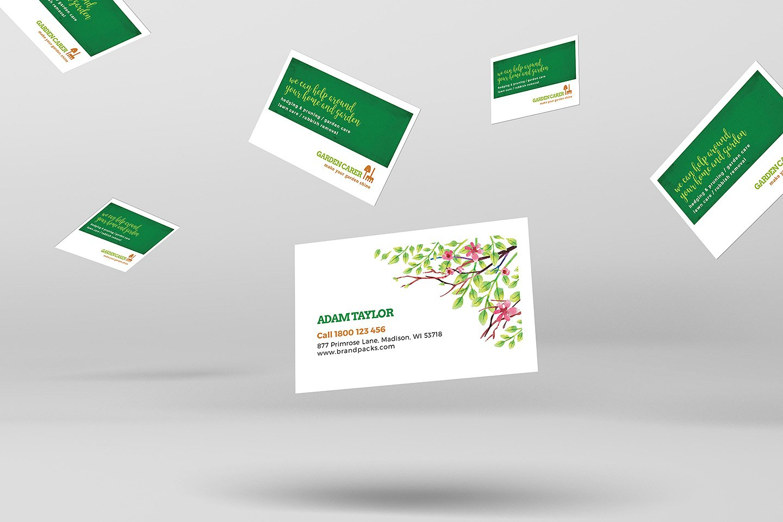 12+ Business Card Designs For Landscapers   Design Trends Inside Gardening Business Cards Templates