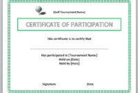 13 Free Certificate Templates For Word » Officetemplate for Golf Certificate Templates For Word