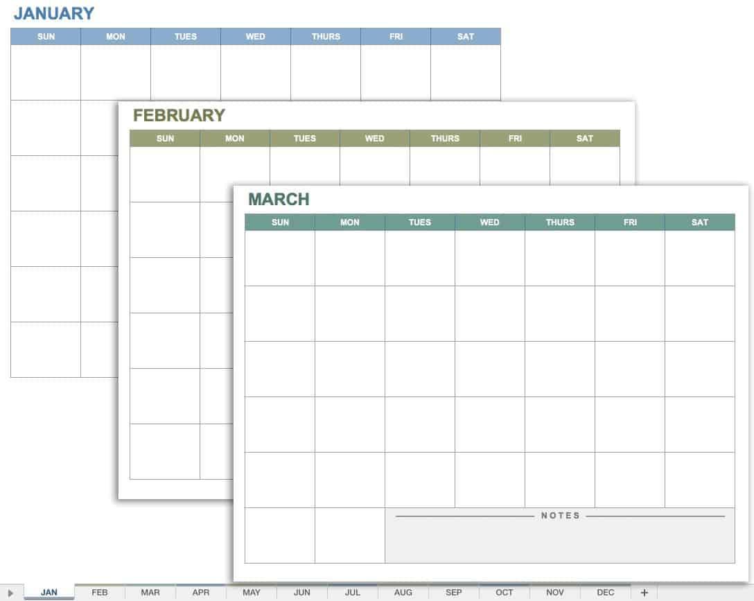 15 Free Monthly Calendar Templates | Smartsheet Inside Monthly Meeting Calendar Template