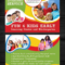 25 Beautiful Free & Paid Templates For Daycare Flyers With Kindergarten Flyer Template