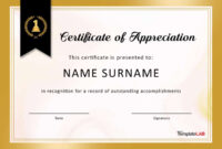 30 Free Certificate Of Appreciation Templates And Letters throughout Good Job Certificate Template