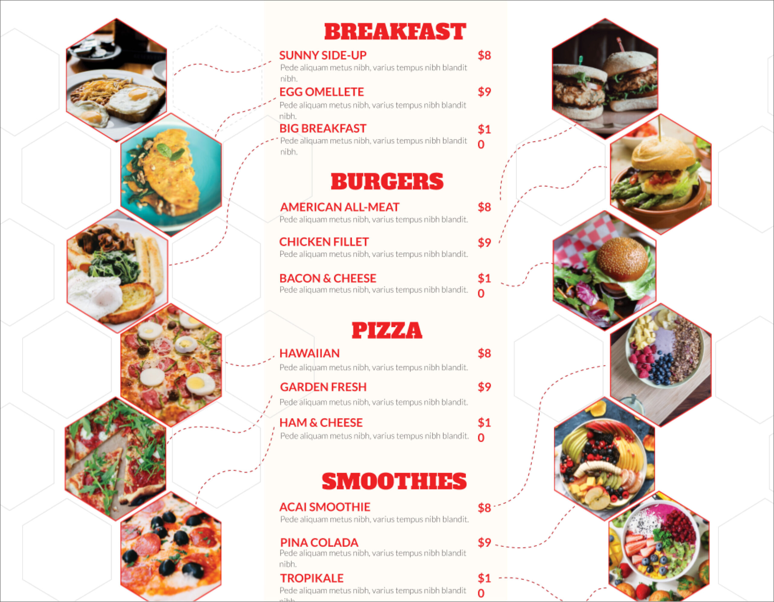 32 Free Simple Menu Templates For Restaurants, Cafes, And Pertaining To Menu Template Google Docs