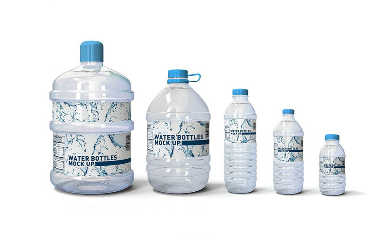 38 Best Water Bottle Mockups For Bottled Water Business For Mineral Water Label Template
