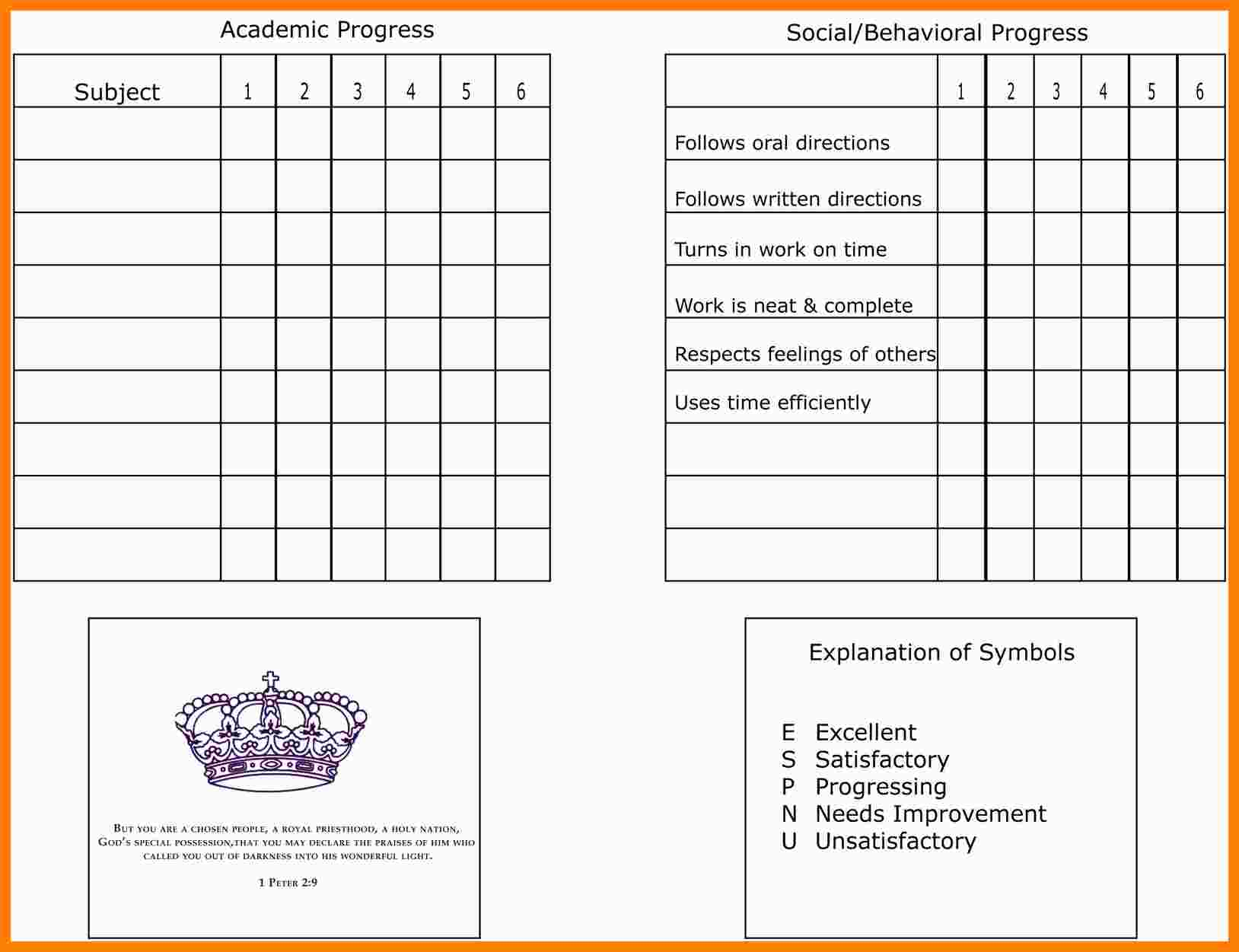 9+ Free School Report Templates | Marlows Jewellers Throughout Homeschool Report Card Template Middle School