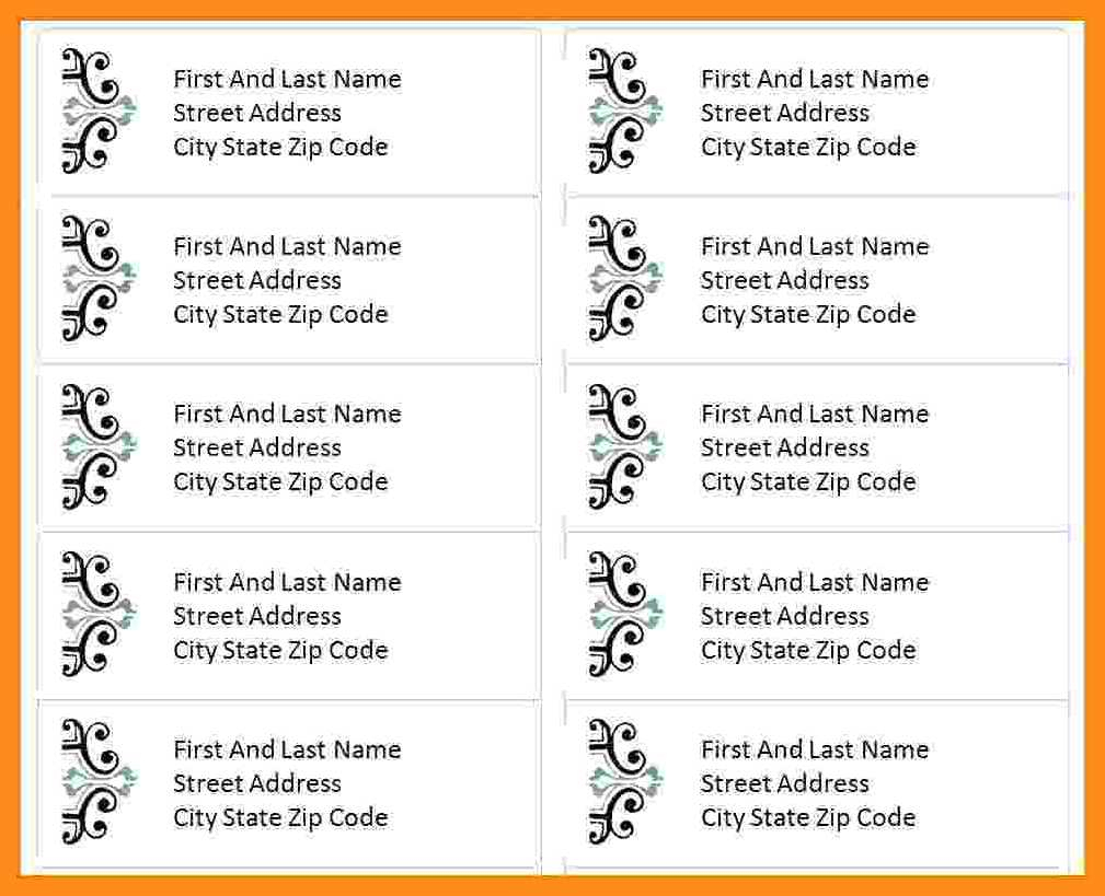 Address Labels In Pages – Colona.rsd7 Intended For Label Template For Pages
