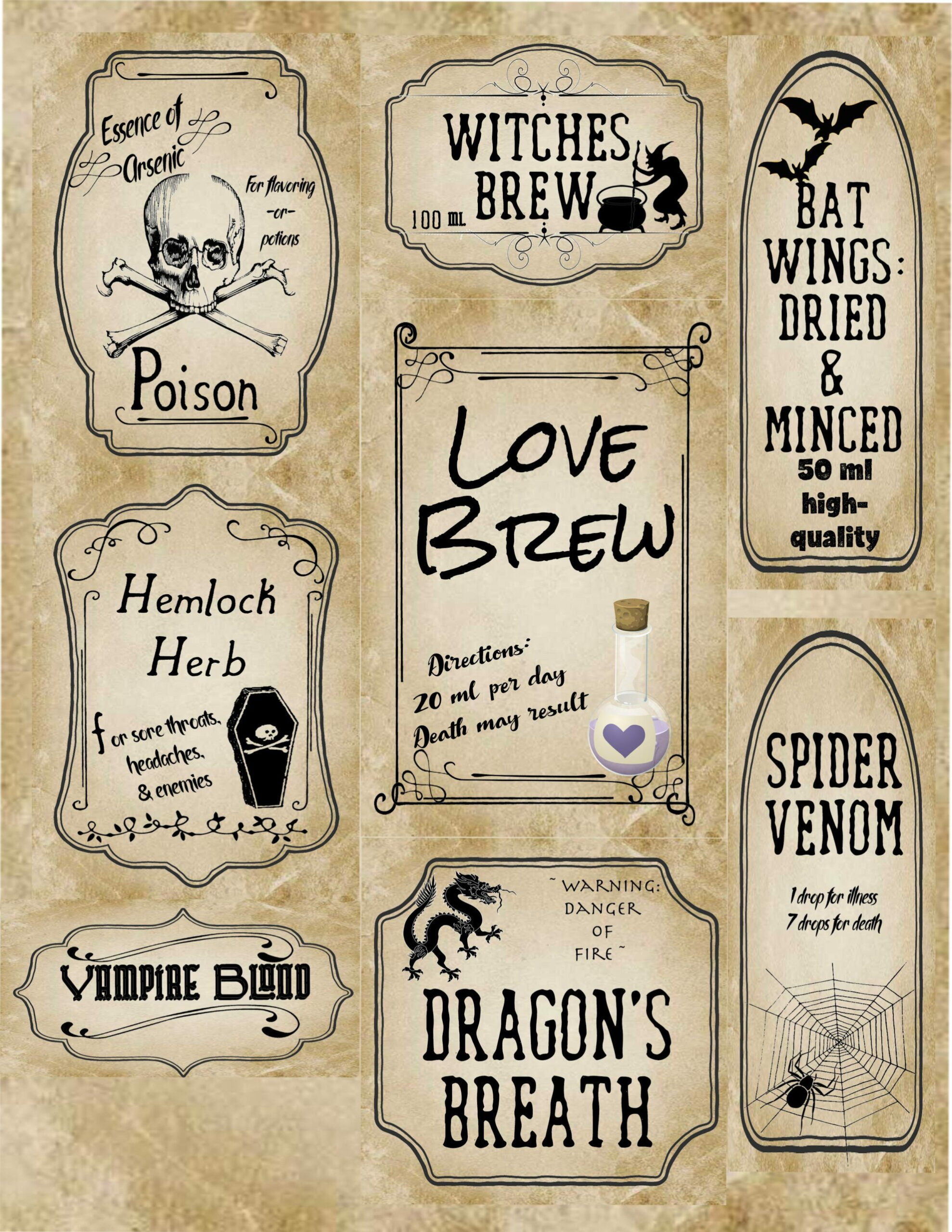Apothecary Label Template – Colona.rsd7 Throughout Harry Potter Potion Labels Templates