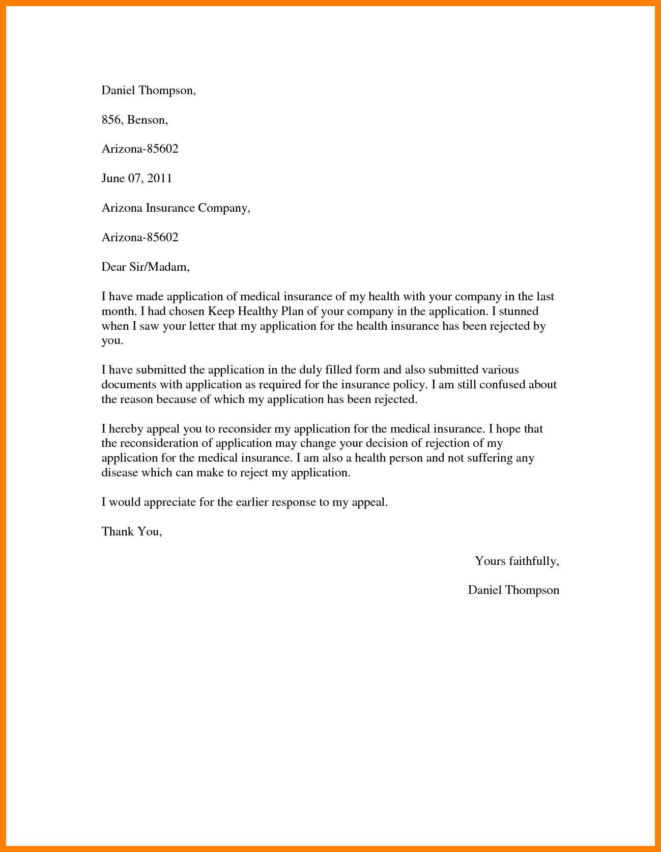 Appeal Letter Sample Denial   Sample Resume Alif with ...