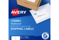 Avery Templates 4 Per Page - Colona.rsd7 throughout Label Template 4 Per Page