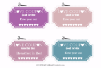 Boyfriend Coupons Template - Colona.rsd7 regarding Love Coupon Template For Word