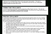 Cd Case Template | Templates At Allbusinesstemplates inside Office Depot Address Label Template