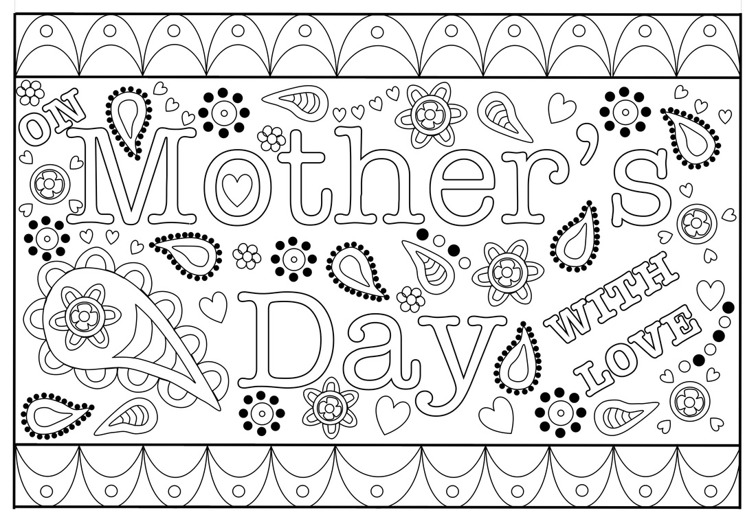 Colouring Mothers Day Card Free Printable Template With Mothers Day Card Templates