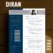 Diran – Blue Banner Resume Template – Rezumeet Regarding Microsoft Word Banner Template