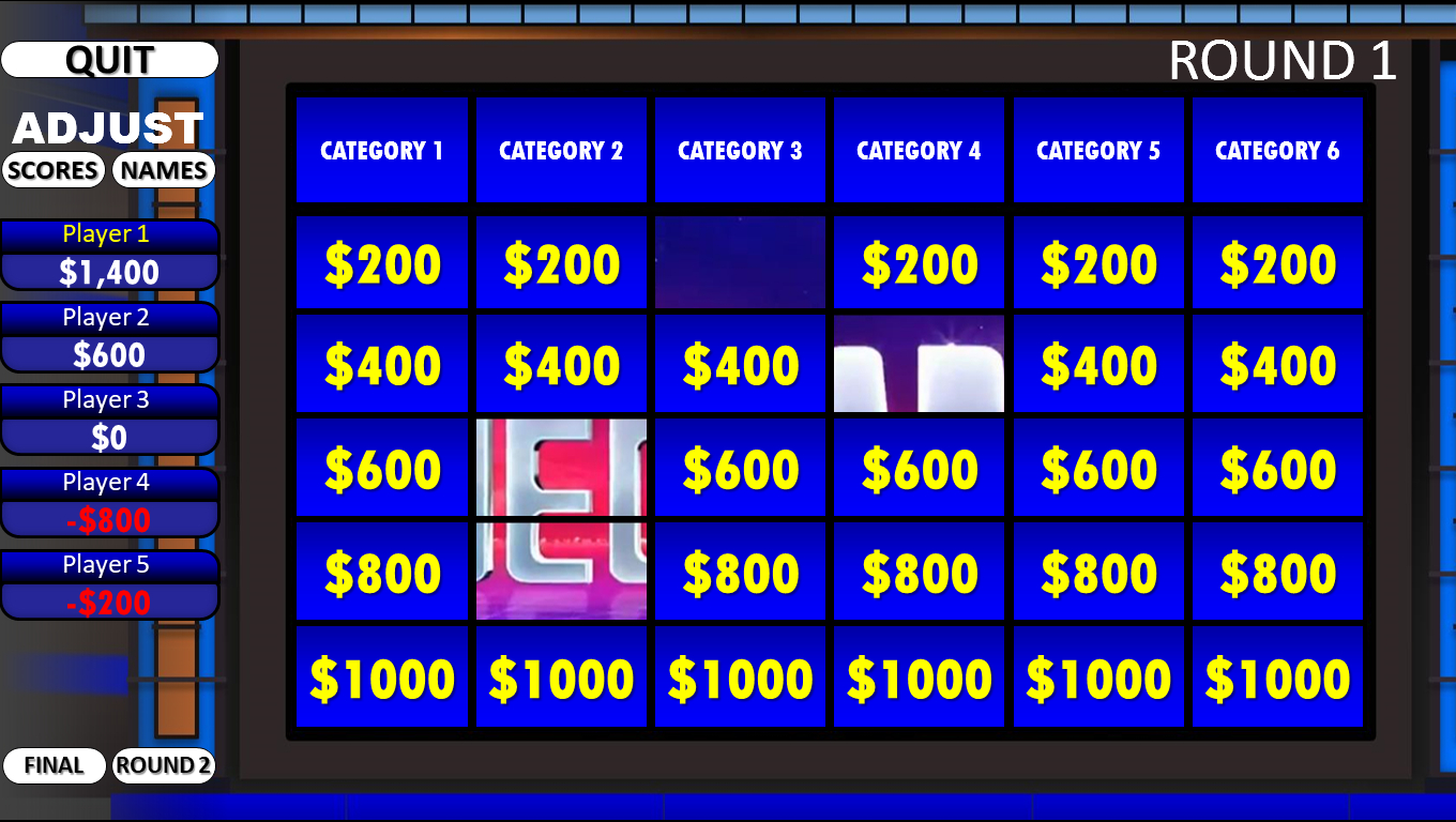 Double Jeopardy Game Template - Firuse.rsd7 Regarding Jeopardy Powerpoint Template With Sound
