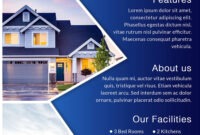 Download Free House For Sale Real Estate Flyer Design Templates with regard to House For Sale Flyer Template