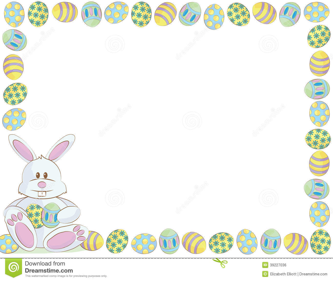Easter Bunny Letter Template Bunny Clipart Frame 8 - Happy In Letter To Easter Bunny Template