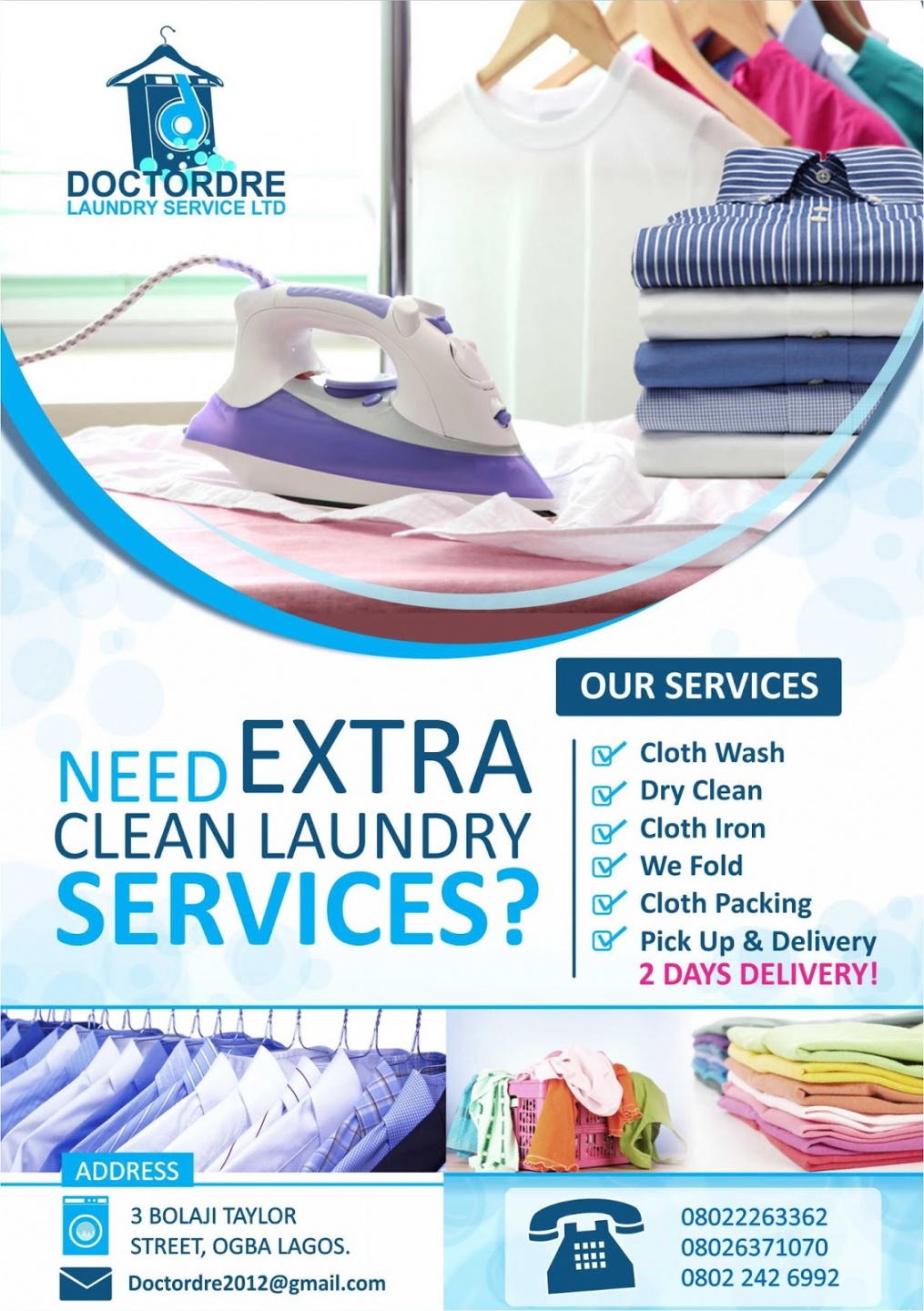Editable Laundry Flyers Sample #c569237B0C50 Idealmedia With Regard To Ironing Service Flyer Template
