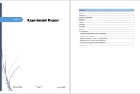 Experiment Report Template - Microsoft Word Templates regarding Lab Report Template Word