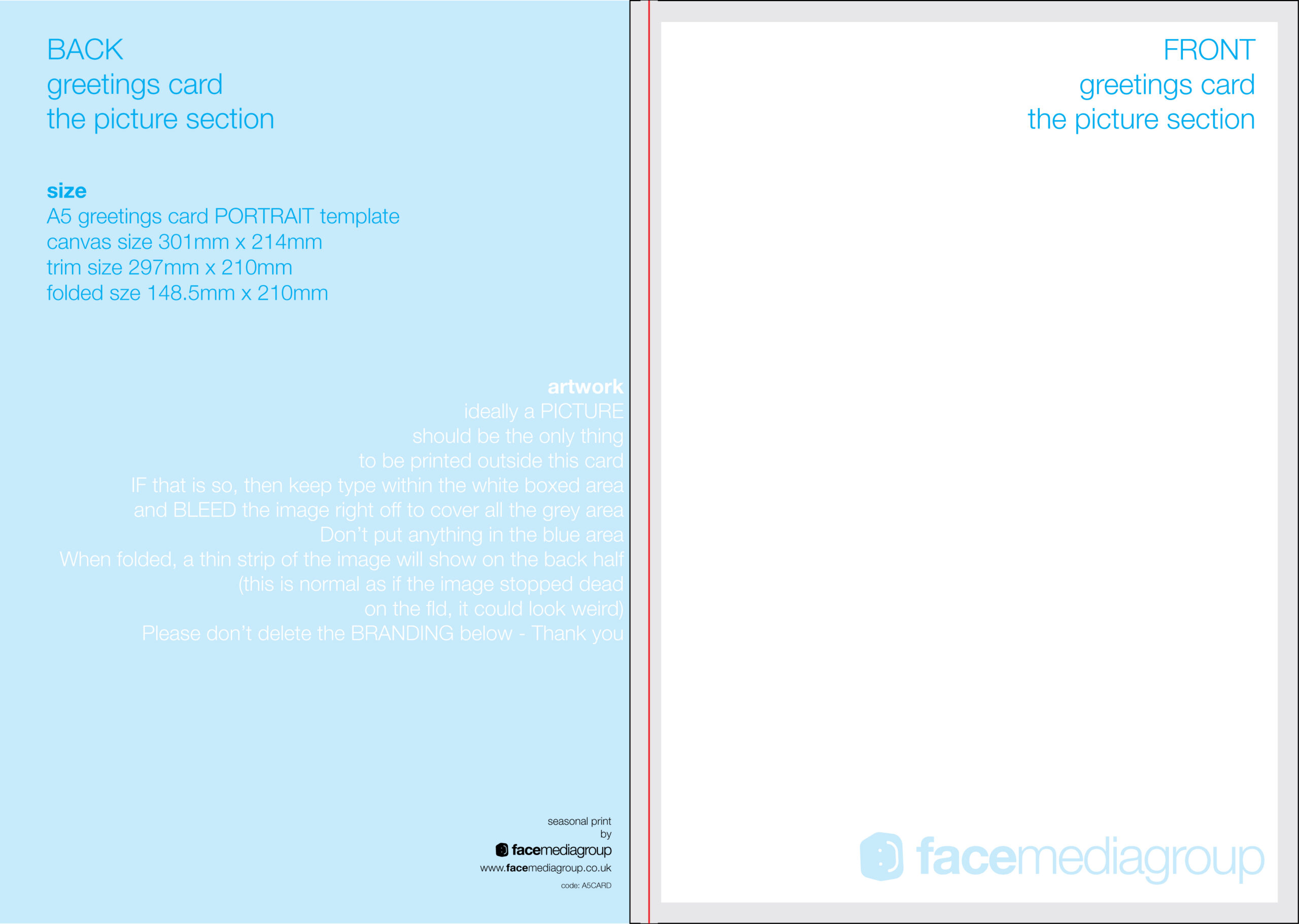 Free Blank Greetings Card Artwork Templates For Download Regarding Greeting Card Layout Templates