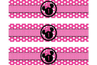 Free Printable Minnie Mouse Bottle Labels | | Dolanpedia throughout Minnie Mouse Water Bottle Labels Template