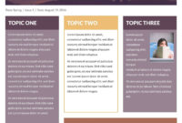 Free Printable Newsletter Templates & Examples | Lucidpress intended for Newletter Templates