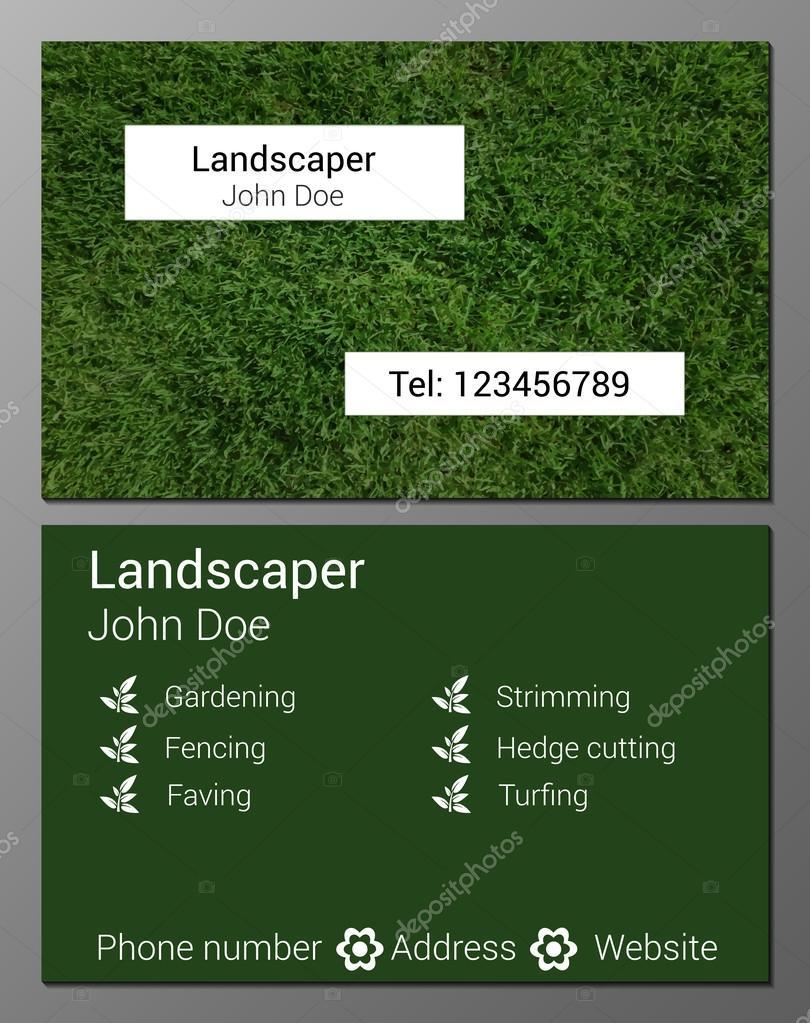 Gardener Business Card — Stock Vector © Mariam2707 #74080439 With Regard To Gardening Business Cards Templates