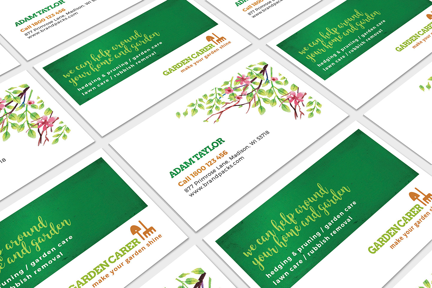 Gardener Business Card Template In Psd, Ai & Vector – Brandpacks Pertaining To Gardening Business Cards Templates