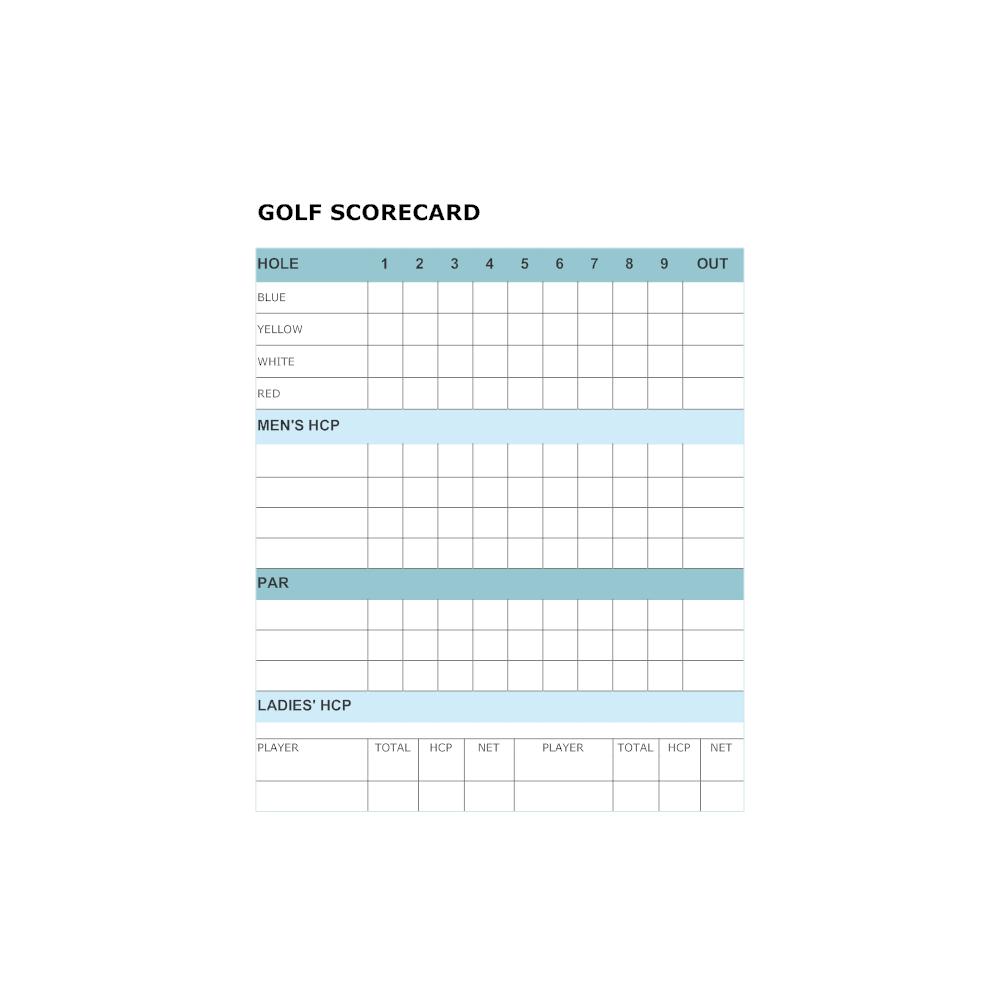 Golf Score Card Template - Colona.rsd7 In Golf Score Cards Template