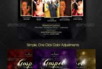 Gospel Concert Flyer Graphics, Designs & Templates with regard to Gospel Flyer Template