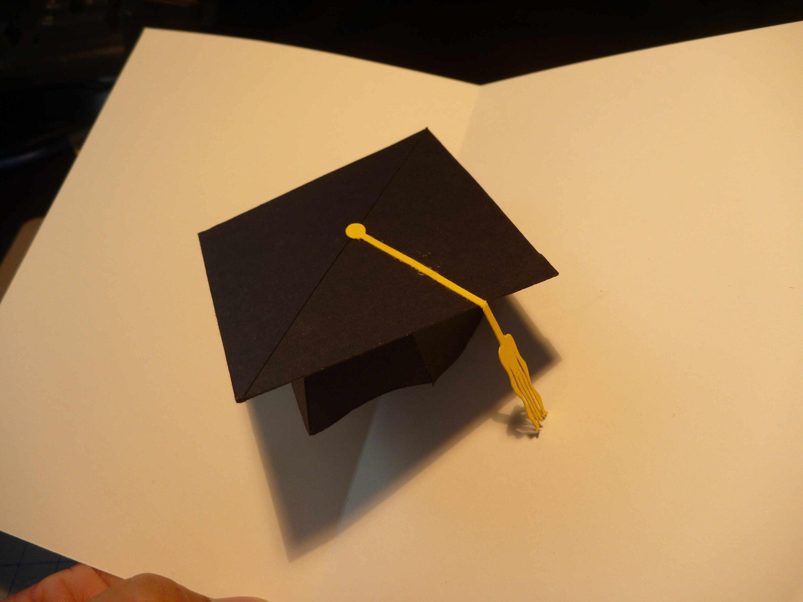 Graduation Pop Up Card: 3D Cap Tutorial - Creative Pop Up Cards In Graduation Pop Up Card Template
