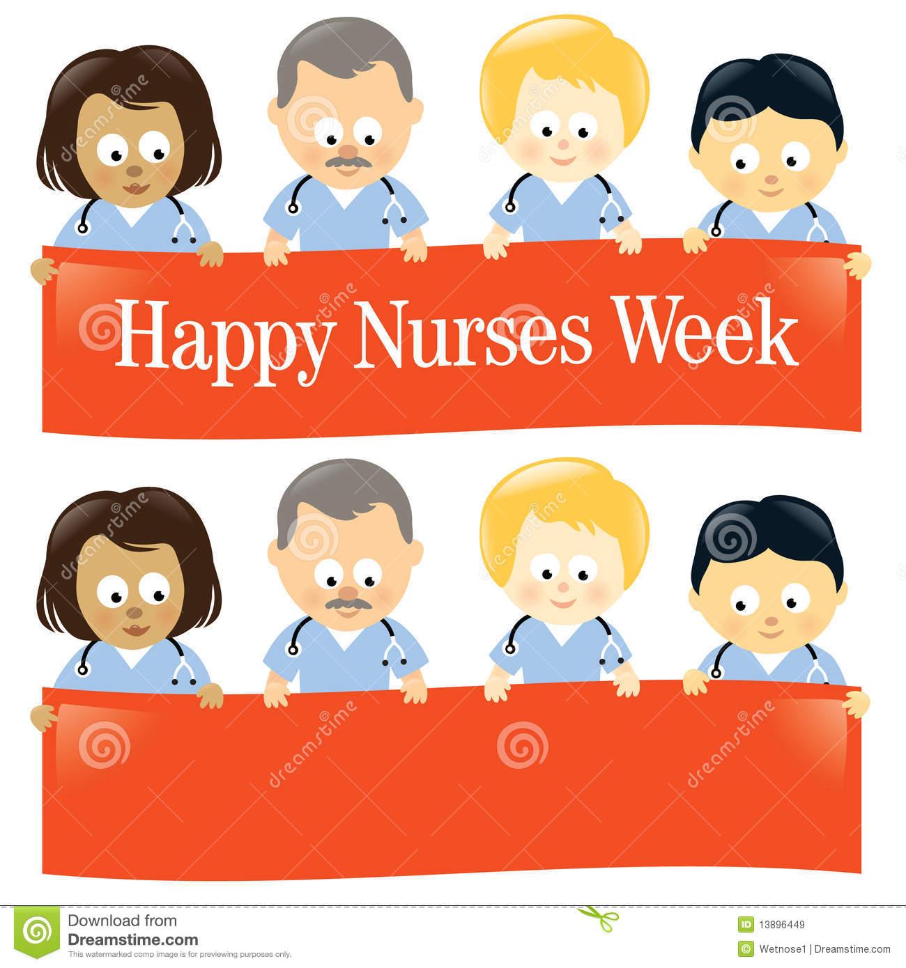 Happy Nurses Week Isolated Stock Vector. Illustration Of Throughout Nurses Week Flyer Templates