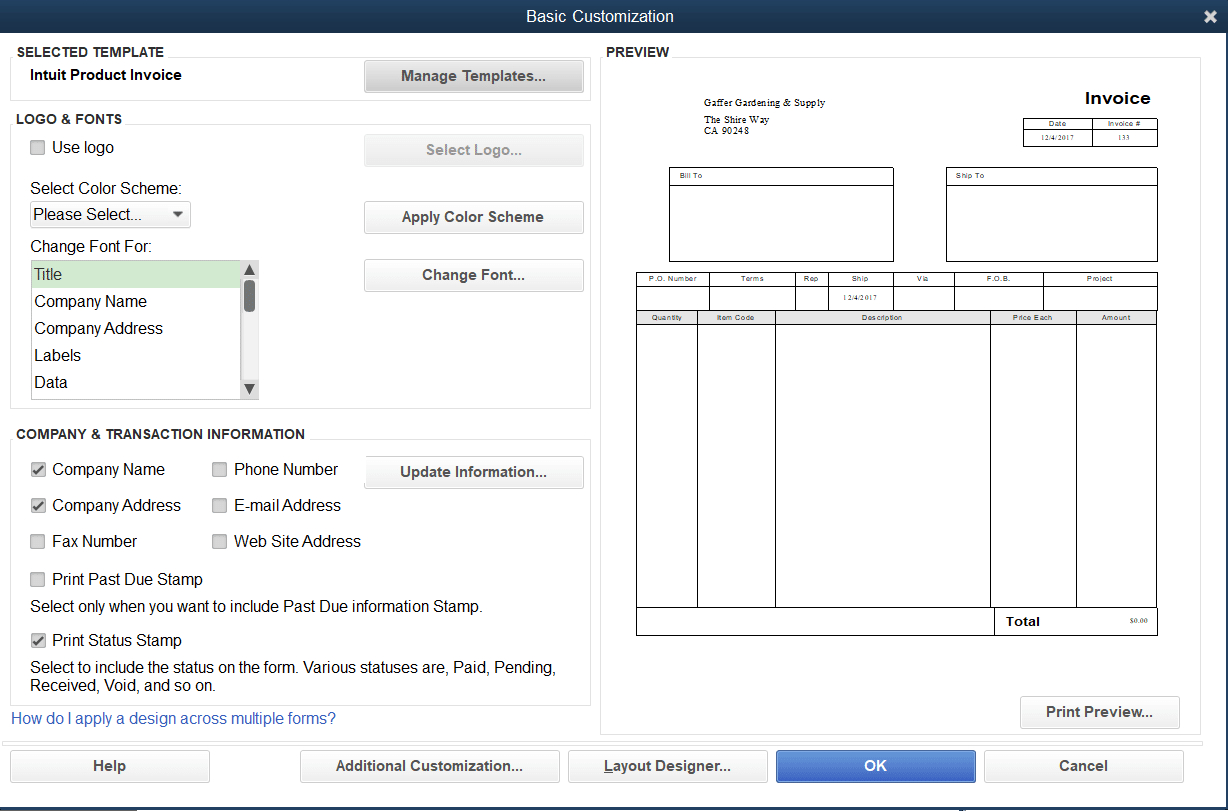 How To Customize Invoice Templates In Quickbooks Pro Pertaining To How To Edit Quickbooks Invoice Template