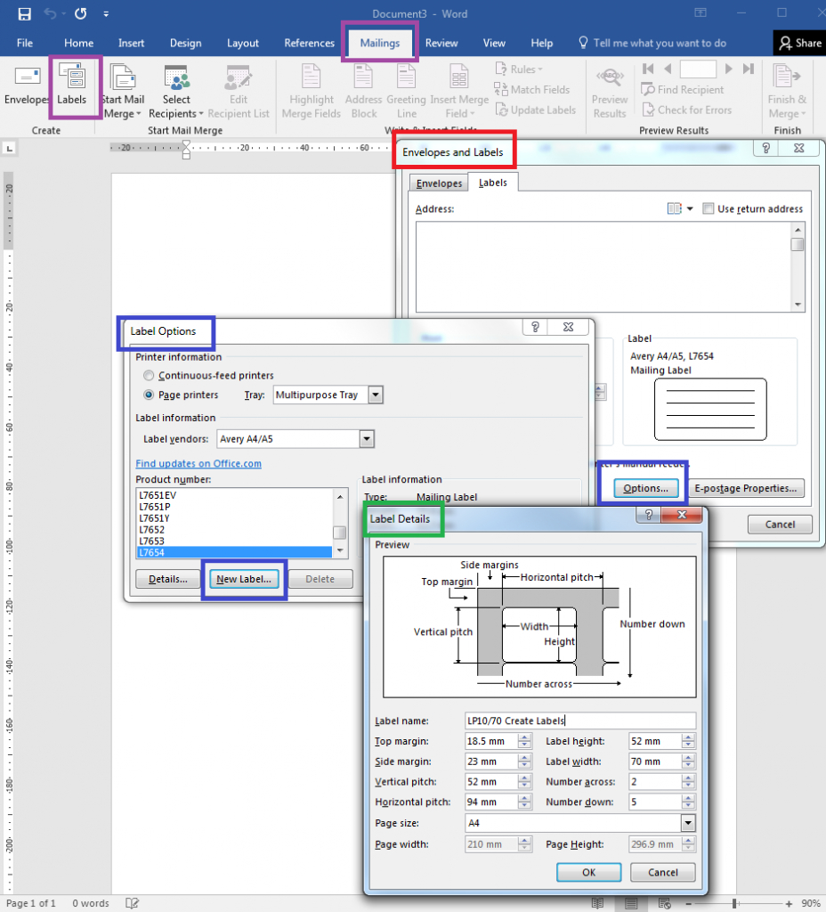 How To – How To Create Your Own Label Templates In Word For Microsoft Word Label Printing Templates