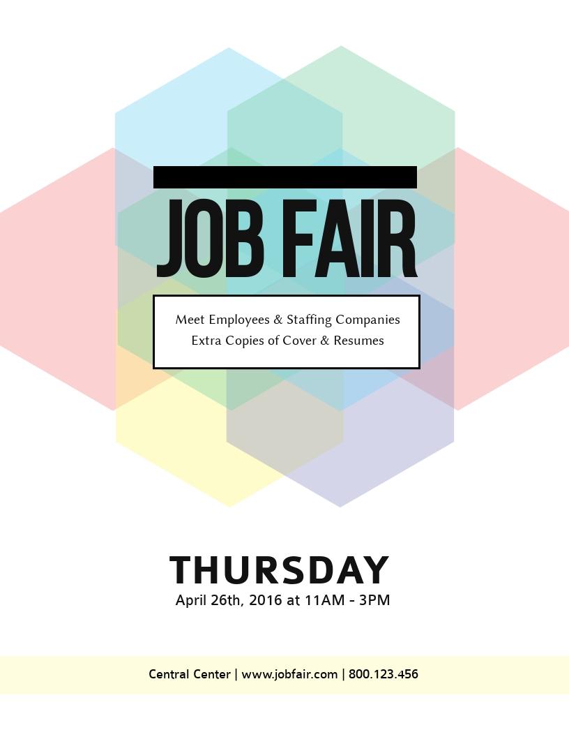 Job Fair Flyer Template - Visme Intended For Job Fair Flyer Template