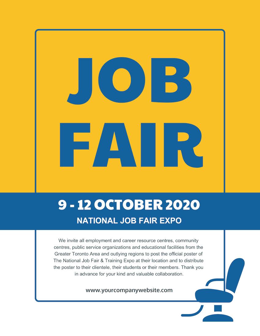 Job Fair Flyer With Job Fair Flyer Template