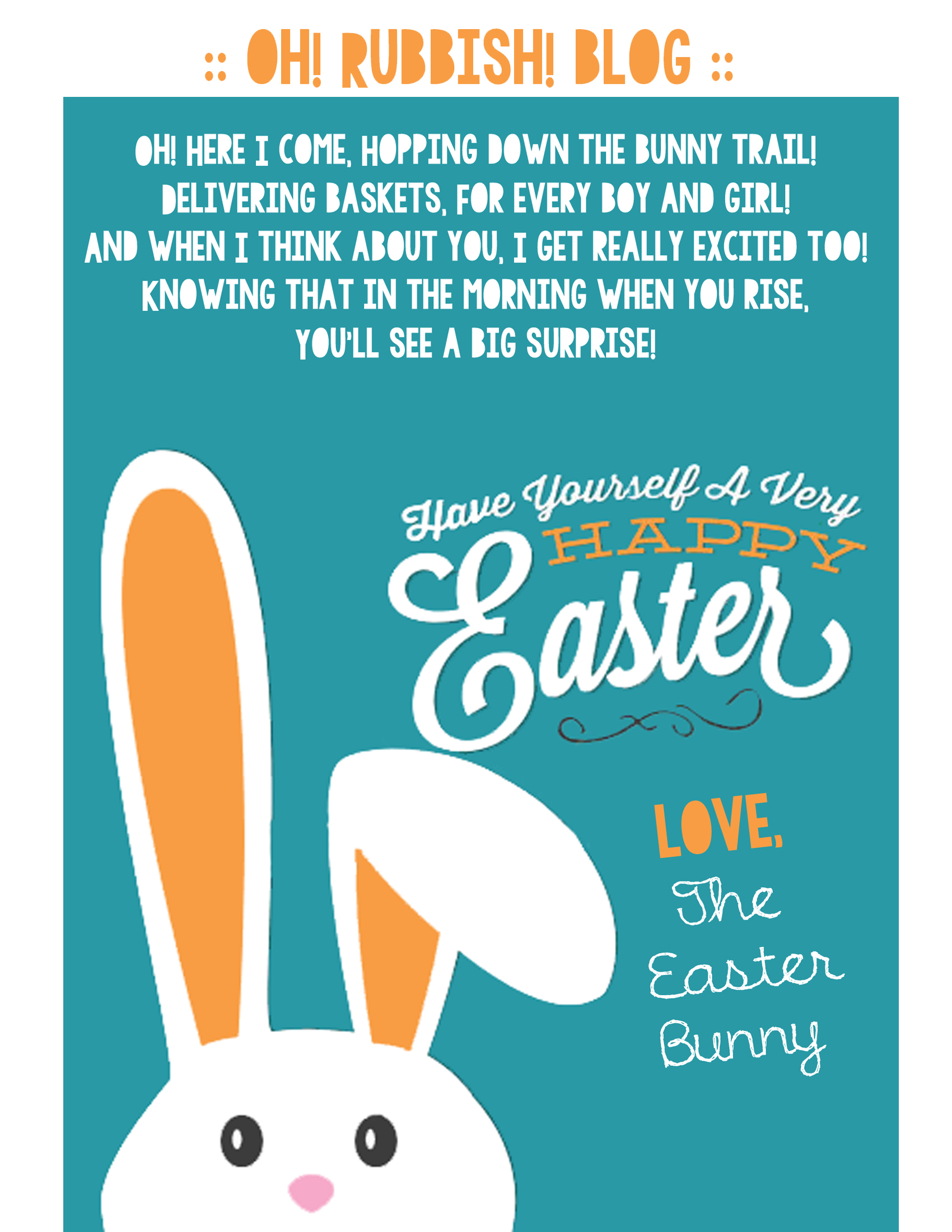 Letter To The Easter Bunny Template ] - Free Easter With Letter To Easter Bunny Template