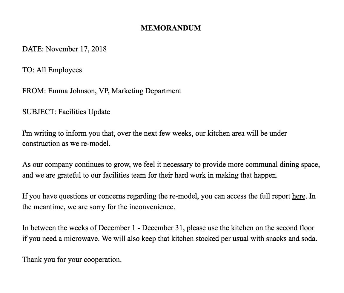 Memorandum Examples – Firuse.rsd7 Throughout Memo Template Word 2013