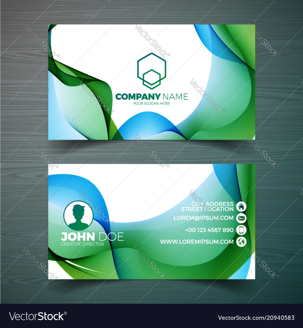Modern Business Card Design Template With Pertaining To Modern Business Card Design Templates