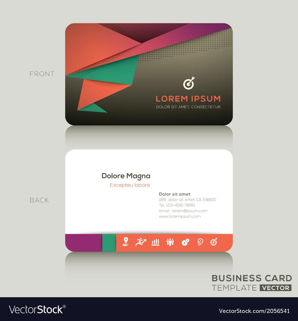 Modern Business Cards Design Template Regarding Modern Business Card Design Templates