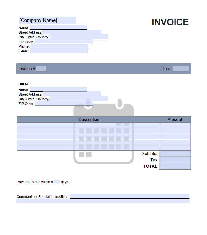 Monthly Rent Invoice Template – Onlineinvoice With Regard To Monthly Rent Invoice Template