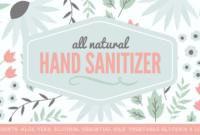 Natural Hand Sanitizer Label - Free Printable With Full Recipe regarding Hand Sanitizer Label Template