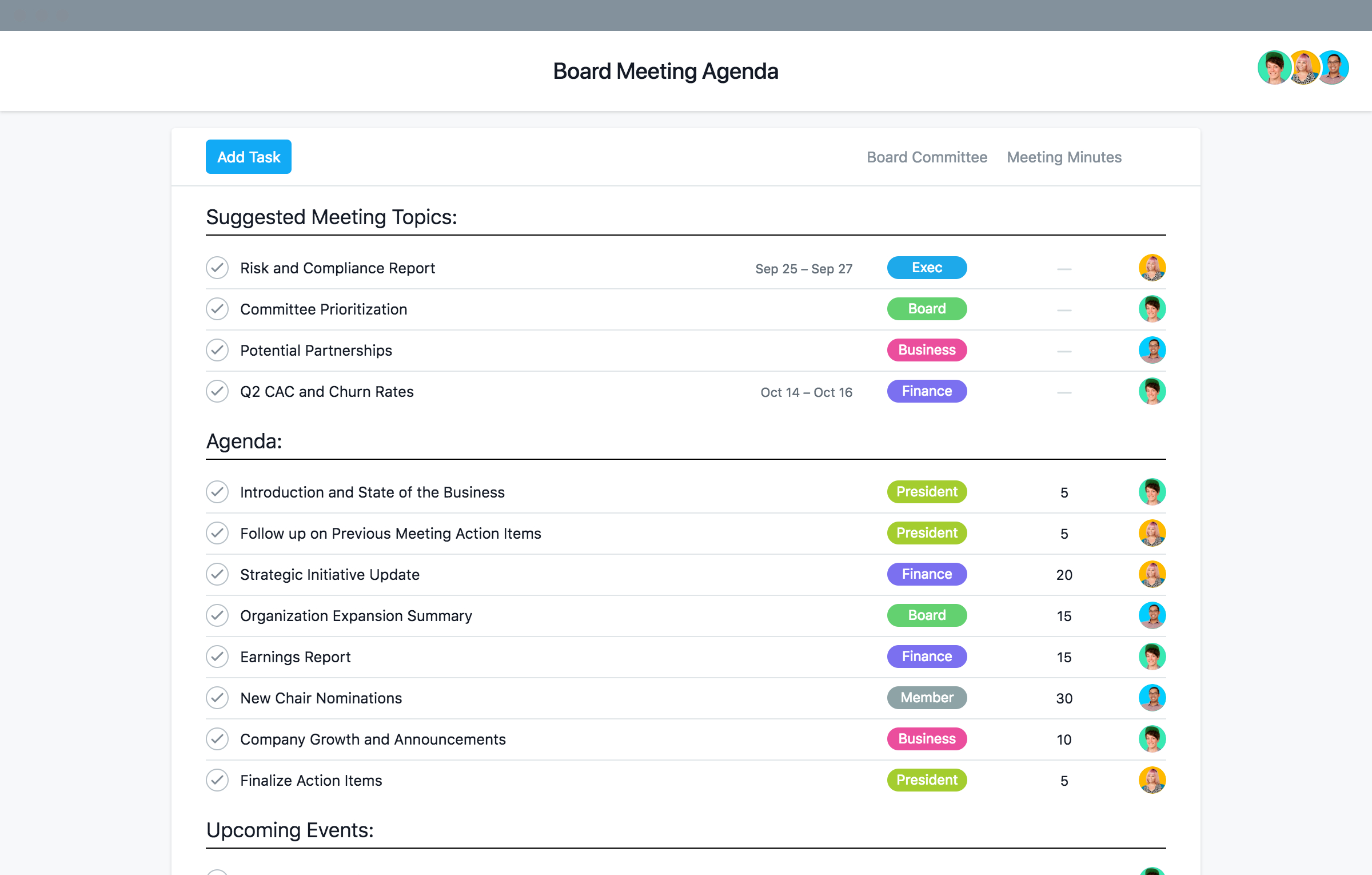 Nonprofit Board Meeting Agenda Template And Best Practices With Regard To Nonprofit Board Meeting Agenda Template