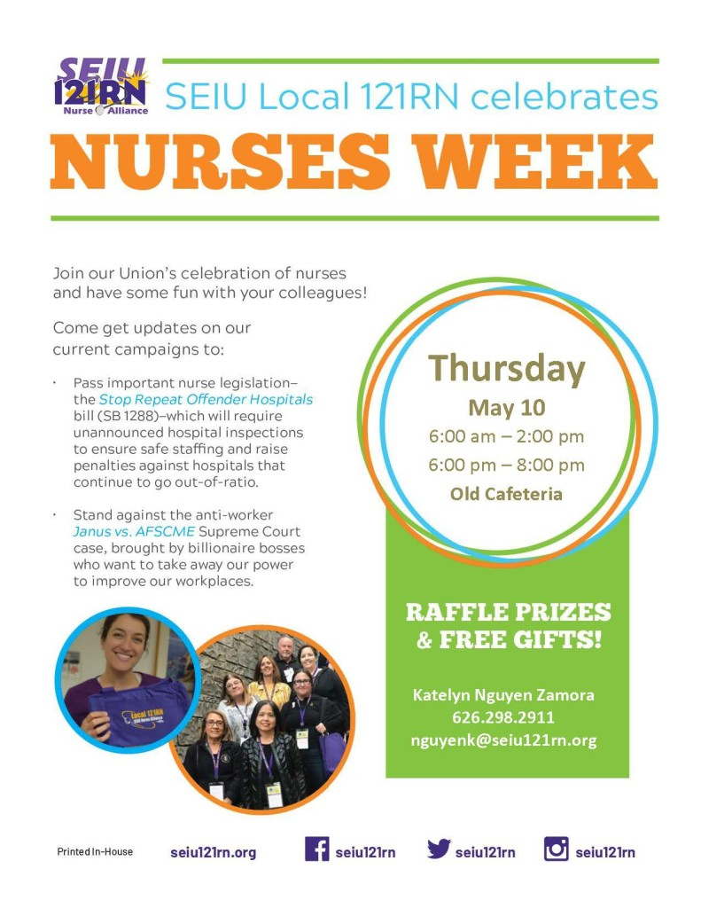 Nurses Week 2018 Flyer With Regard To Nurses Week Flyer Templates