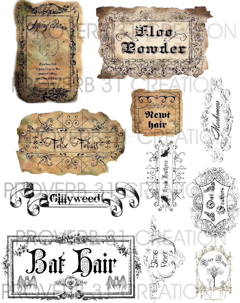 Potion Labels – Water Walker Events – Design – Planning Pertaining To Harry Potter Potion Labels Templates