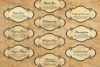 Prescription Label Template Word Psd Funny Bottle Medication in Harry Potter Potion Labels Templates