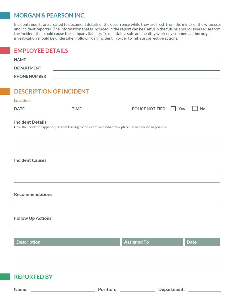Sample Monthly Health And Safety Report Format Annual With Monthly Health And Safety Report Template