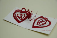 Valentine's Day Pop Up Card: Spiral Heart Tutorial intended for Heart Pop Up Card Template Free