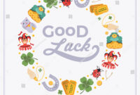 Vector Decorating Design Made Lucky Charms Stock Vector in Good Luck Card Template