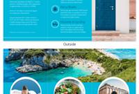 World Travel Tri Fold Brochure pertaining to Island Brochure Template